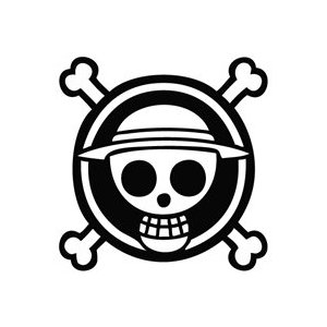 Anime Skull Logo Sticker