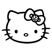 Hello Kitty VW Bow Sticker