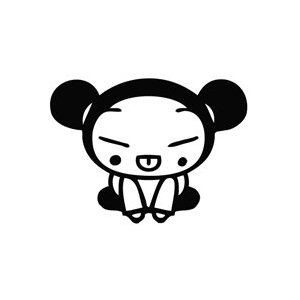 Pucca Sit Down Sticker