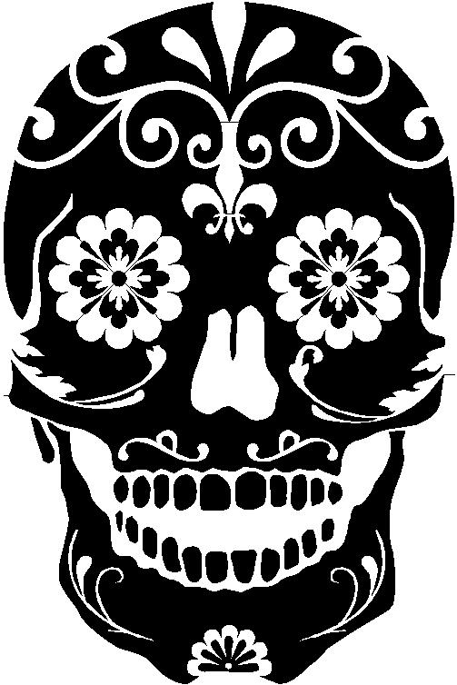 Sugar Skull Mexican Floral Sugar Skull 3 00