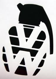 Old School VW Grenade Sticker
