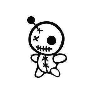 Voodoo Doll Sticker
