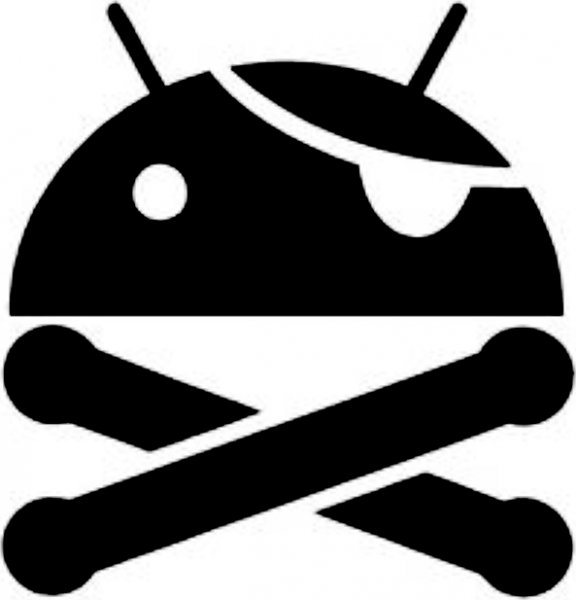 Android Crossbones Sticker