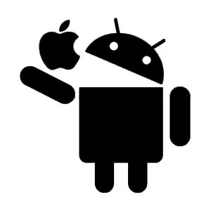Android Eats Apple Sticker
