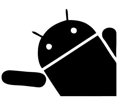 Android In the Corner Sticker