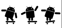 Android Skating Sticker - Click Image to Close