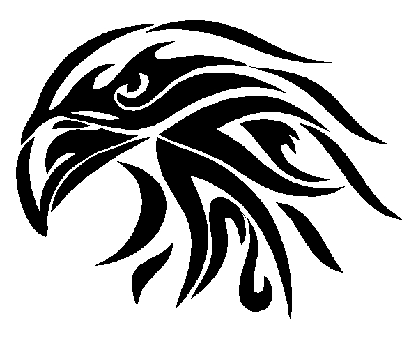 Bald Eagle Tribal Sticker Decal