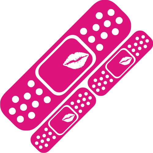 Lips Band Aid Pack Sticker