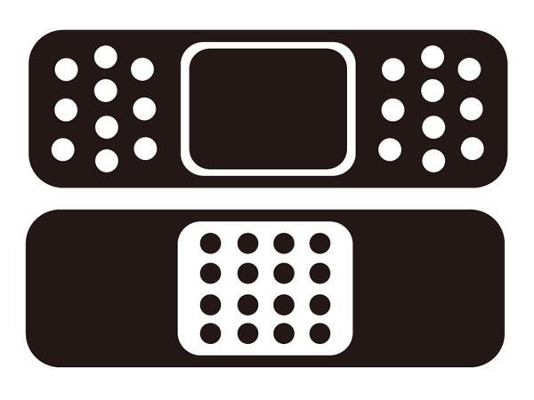 Band aid pair sticker