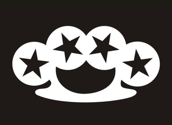 Brass Knucles Sticker With stars