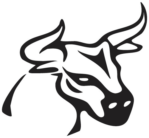 bull With Horns Sticker
