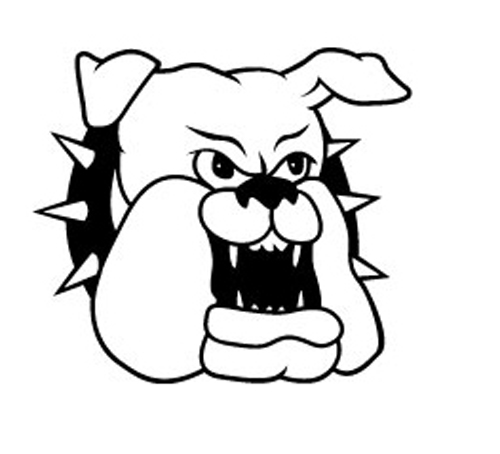 Bulldog Cartoon Sticker