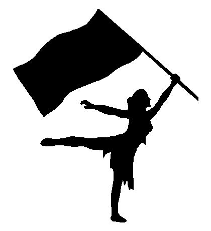 Colorguard Flag Sticker Decal