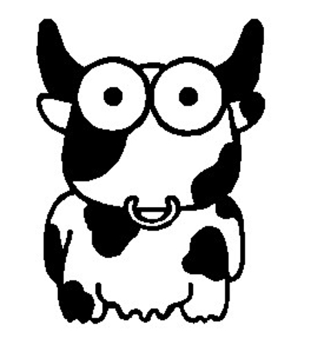 Crazy Cow Sticker 2