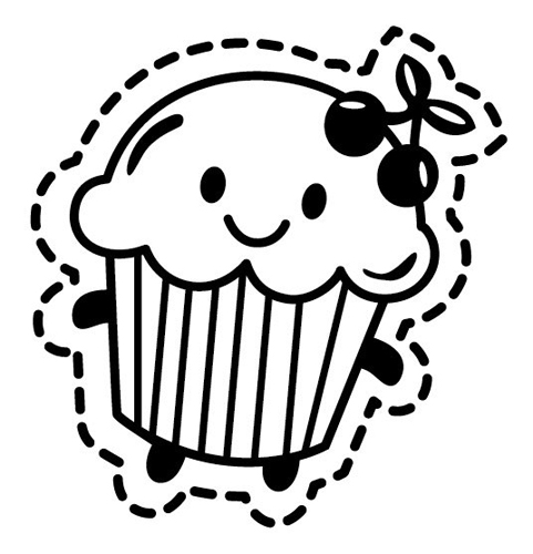Cupcake Outline Image Cake Ideas and Designs