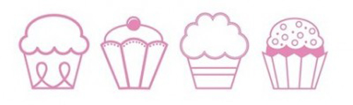 Cupcake Sticker Set