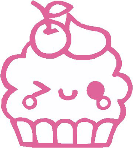 Cupcake Wink Sticker