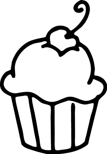 Cute Cupcake Outline Cake Ideas And Designs