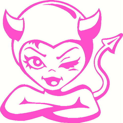 Devil Girl Sticker