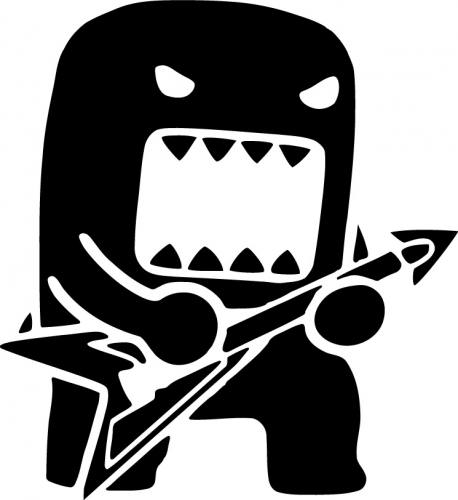 Domo Guitar Sticker