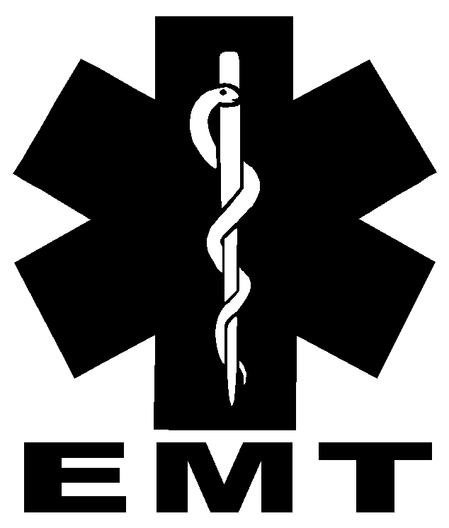 EMT Star of Life Sticker Decal - Click Image to Close