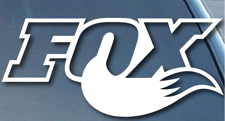 FOX Tail Logo Sticker