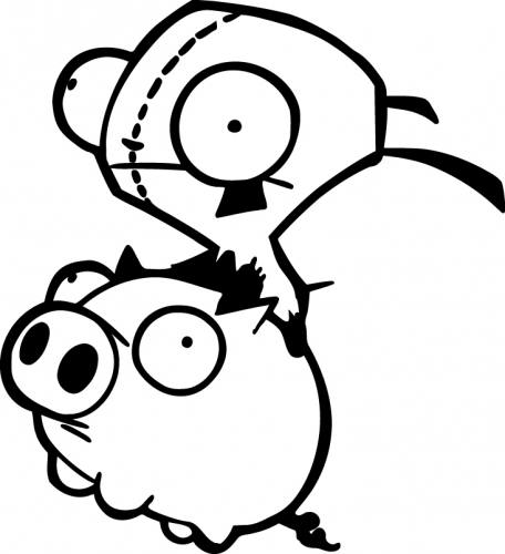 Gir Pig Sticker