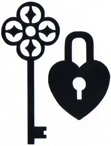 Heart And Key locket Sticker
