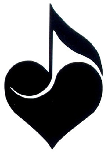 Heart Music Note Sticker