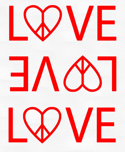 Heart Peace Love Sticker