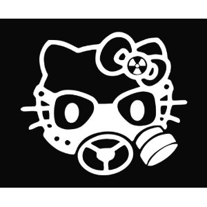 Hello Kitty Gas Mask Face Sticker