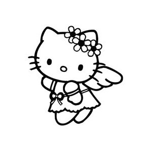 Hello Kitty Flower Angel Sticker