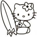 Hello Kitty Surf Sticker