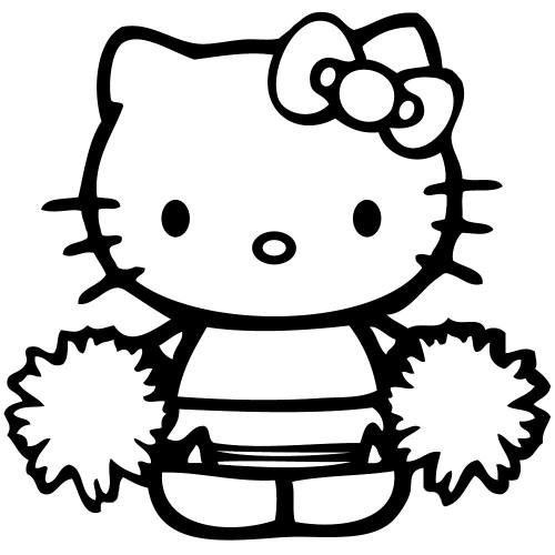 Hello Kitty Cheerleade Sticker