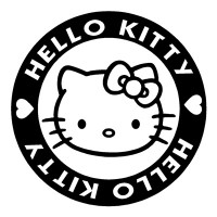 Hello Kitty Circle Sricker