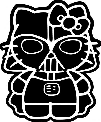 Hello Kitty Darth Vater Sticker