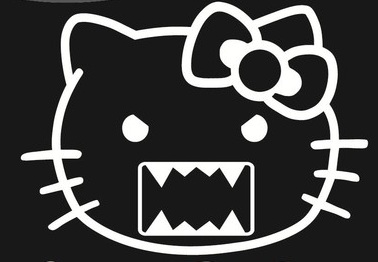 Hello Kitty Face Domo Sticker