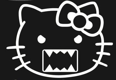 Hello Kitty Face Domo Sticker Hello Kitty Domo1 3 00