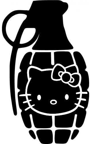 Hello Kitty Grenade Hellokittygrenade SassyStickers - Hello kitty custom vinyl stickers