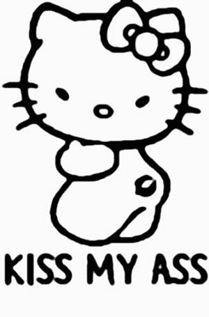 Hello Kitty Kiss My Ass Sticker