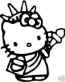 Hello Kitty Liberty Sticker