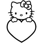 Hello Kitty Heart Sticker Decal