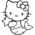 Hello Kitty Mermaid Sticker - Click Image to Close