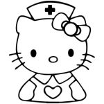 hello kitty coloring pages nurse - photo#12