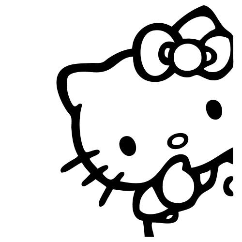 Hello Kitty Peeking Sticker