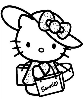 Hello Kitty Shopper Sticker