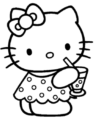 Hello Kitty Summer Sticker