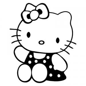 Hello Kitty Swimsuit Sticker