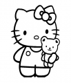 hello Kitty Teddy Bear Sticker
