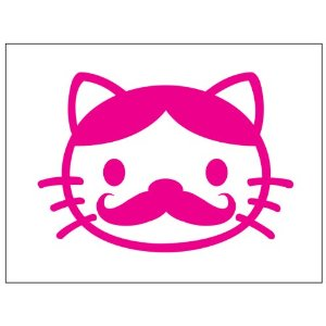 Hello Kitty Mustache Face